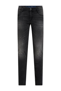 WE Fashion Blue Ridge skinny jeans black faded, Black Faded