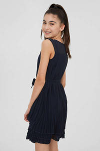 C&A plissé jurk met ceintuur donkerblauw, Donkerblauw