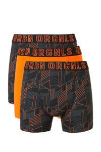 C&A Here & There   boxershorts - set van 3 zwart/oranje, Zwart/oranje