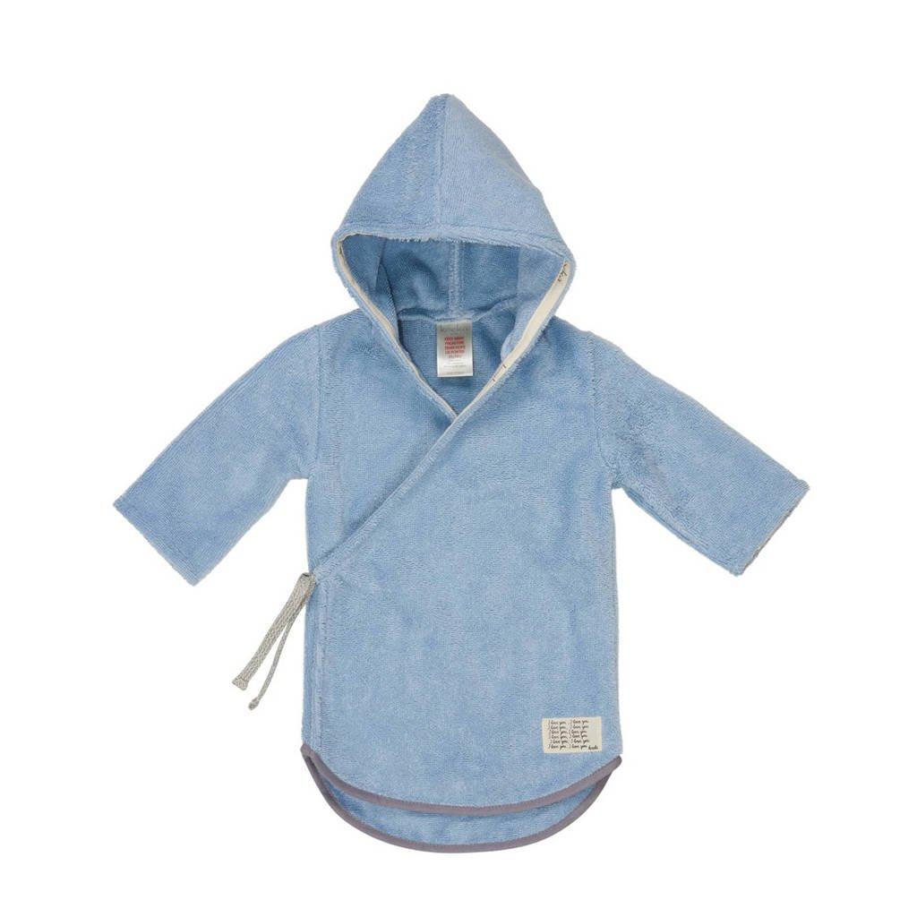 Koeka   baby badjas Dijon blauw, soft blue