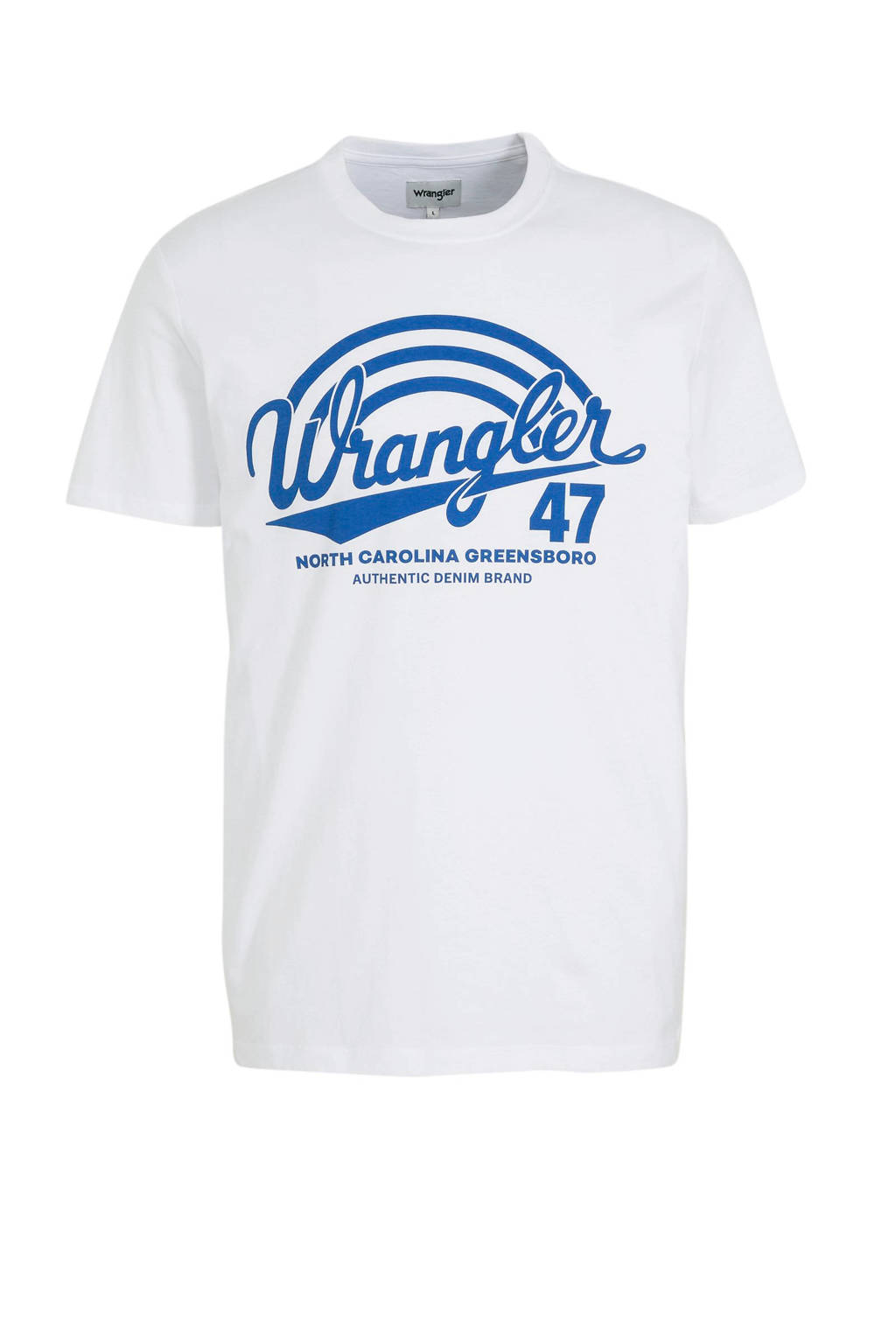 Wrangler T-shirt met printopdruk wit, Wit