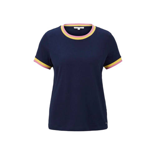 Tom Tailor Denim T-shirt jersey tee with contrast