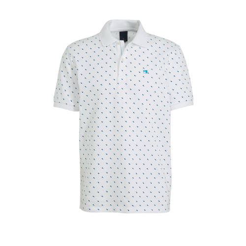 Scotch & Soda slim fit polo met all over print