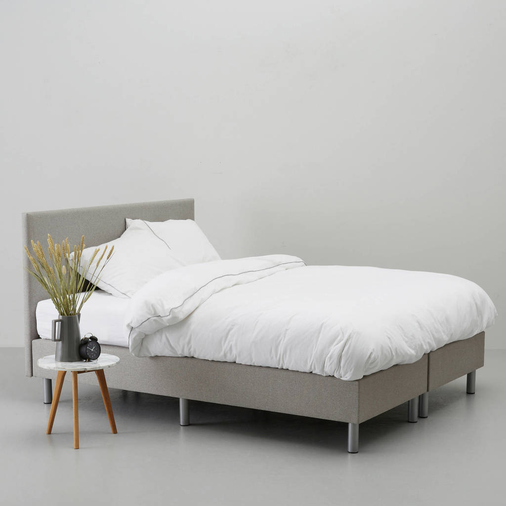 Wehkamp Home complete boxspring Malby (140x200 cm), Taupe