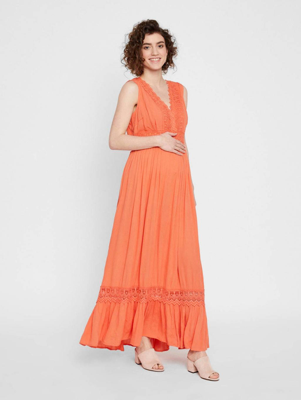 MAMALICIOUS zwangerschapsjurk Florence met kant oranje, Oranje