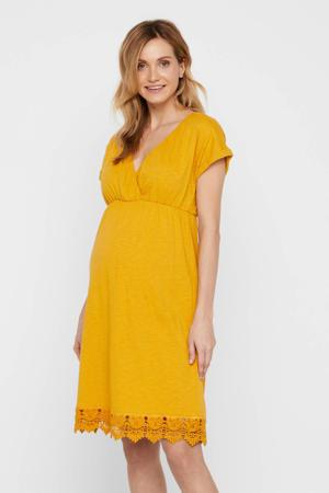 zwangerschaps- en voedingsjurk Laletta met kant geel