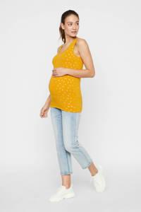 MAMALICIOUS zwangerschapssinglet Foley met all over print geel, Geel