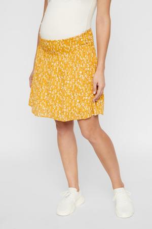 zwangerschapsrok Carlin met all over print geel