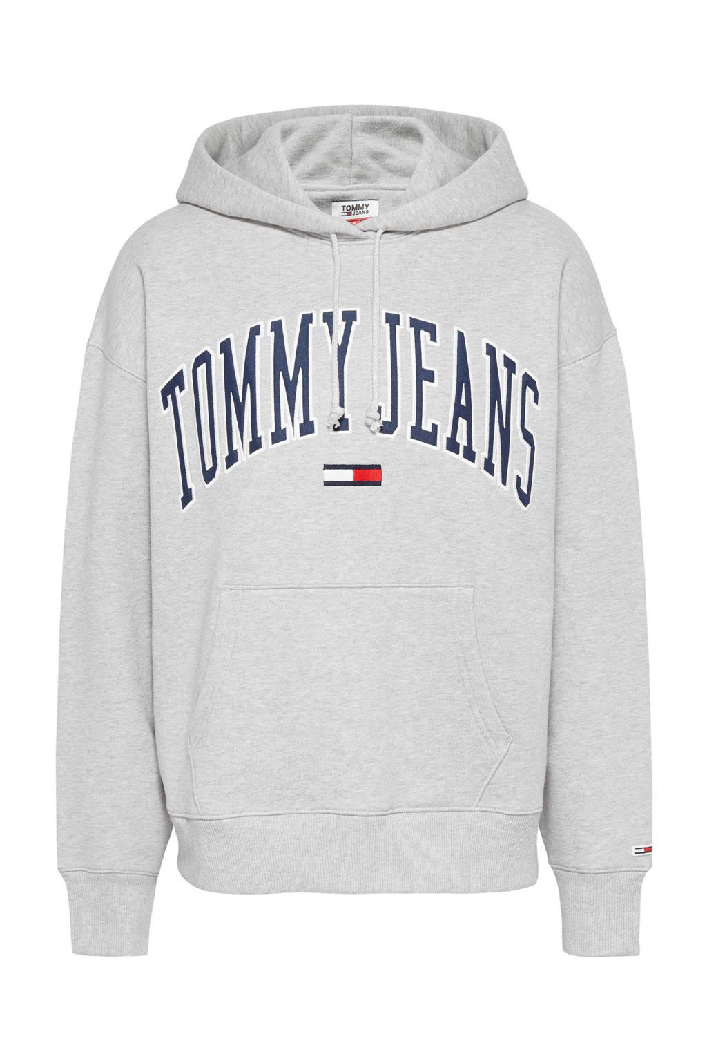 Tommy Jeans hoodie met logo grijs, Grijs