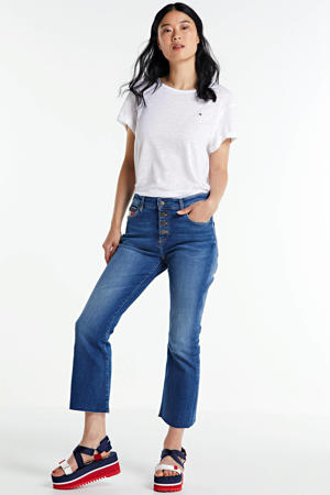 flared jeans mid blue