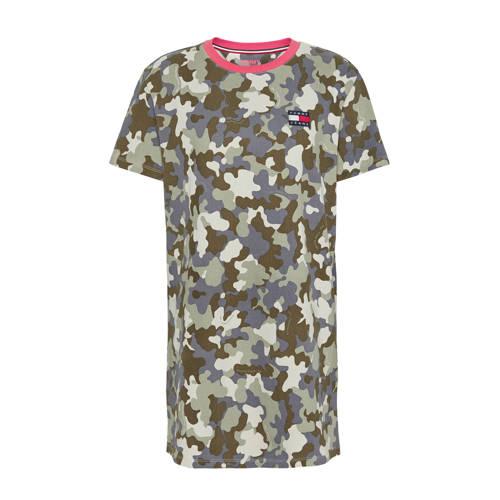 Tommy Jeans jersey jurk met contrastbies en contra