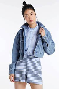 Tommy Jeans spijkerjasje met logo lichtblauw, Lichtblauw