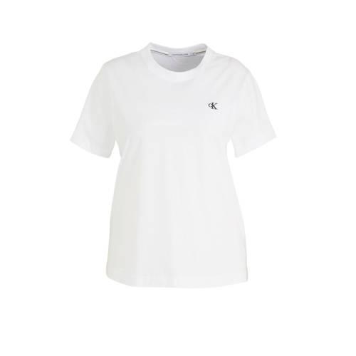 CALVIN KLEIN Plus T-shirt met logo wit