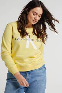 CALVIN KLEIN Plus sweater met logo geel, Geel