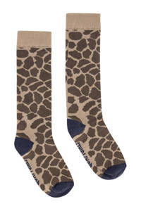 Quapi panterprint sokken camel, Camel