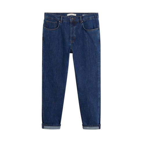 Mango Man straight fit jeans changeant blauw