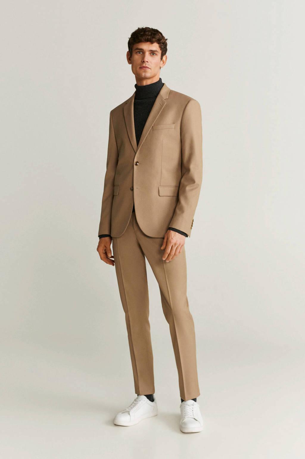 Mango Man skinny pantalon lichtbeige, Lichtbeige