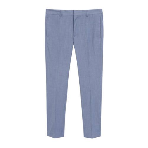 Mango Man slim fit pantalon pastelblauw