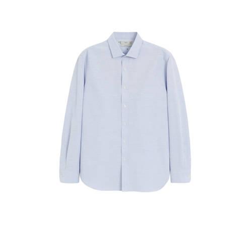 Mango Man slim fit overhemd pastelblauw
