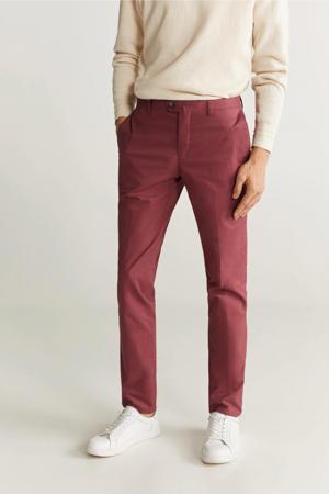 slim fit pantalon lichtbeige