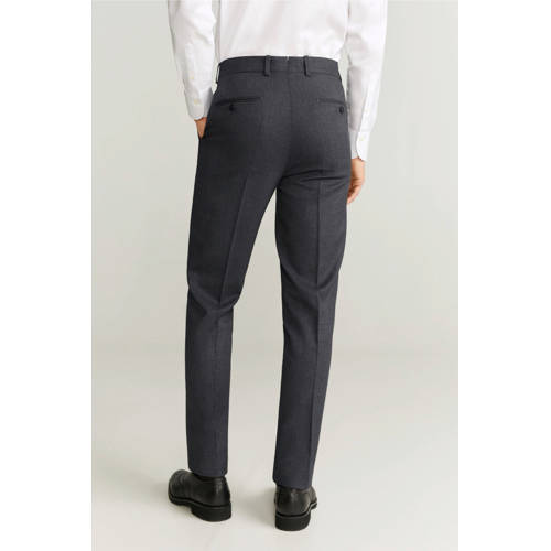 Mango Man regular fit pantalon grijs