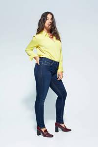Violeta by Mango slim fit jeans donkerblauw, Donkerblauw