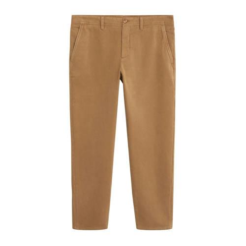 Mango Man tapered fit pantalon middenbruin