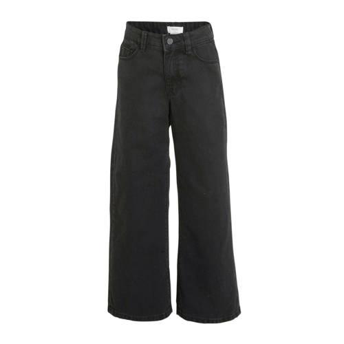 Mango Kids culotte jeans zwart