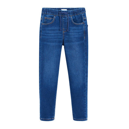 Mango Kids straight fit jeans donkerblauw