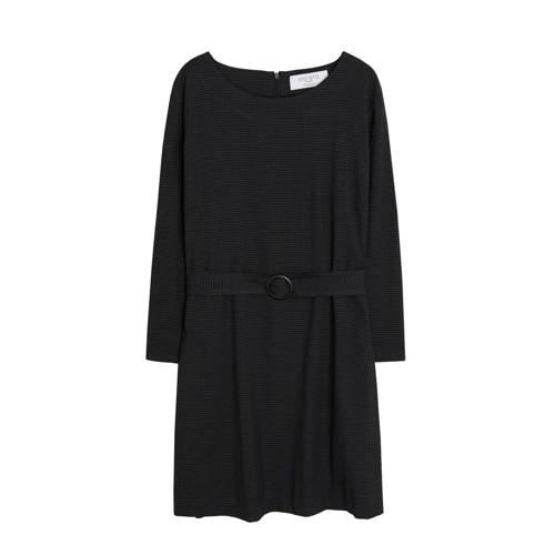 Violeta by Mango A-lijn jurk met ceintuur grijs