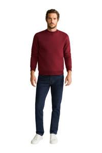 Mango Man sweater donkerrood, Donkerrood