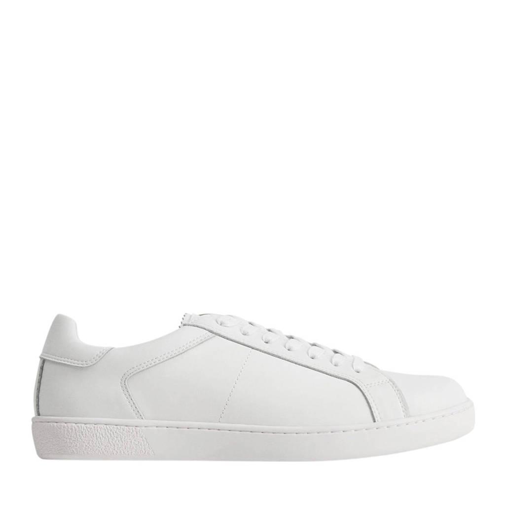 Mango Man   leren sneakers wit, Wit