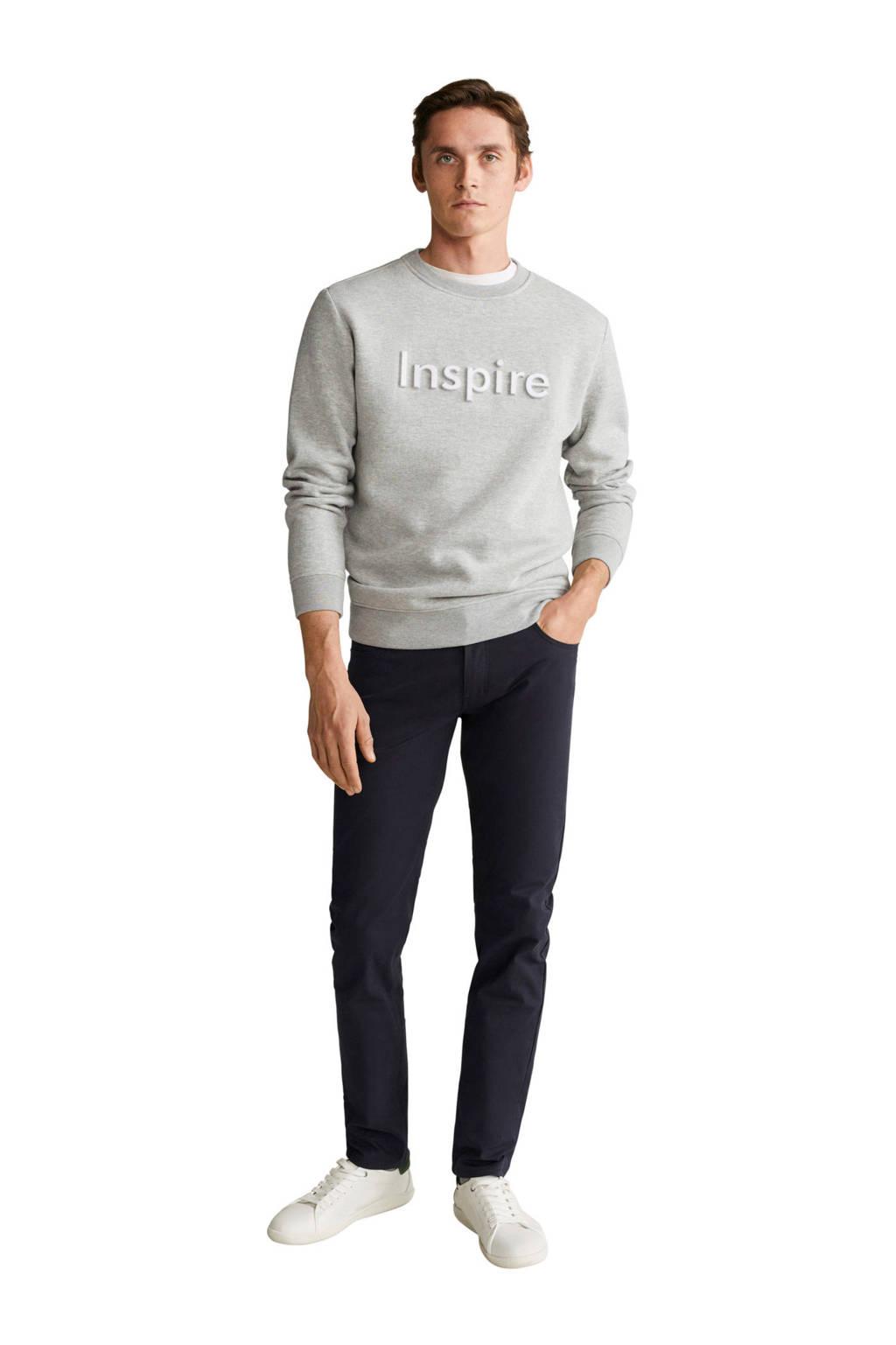 Mango Man sweater grijs, Grijs