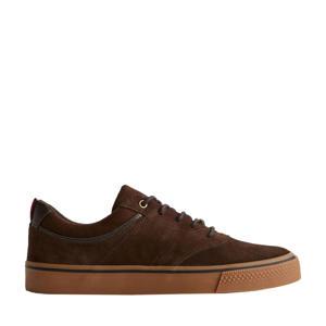 suède sneakers bruin