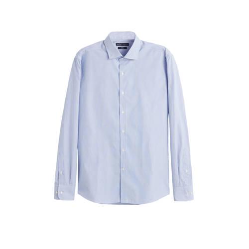 Mango Man slim fit overhemd middenblauw
