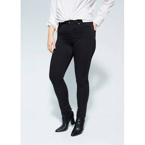 Violeta by Mango slim fit jeans zwart