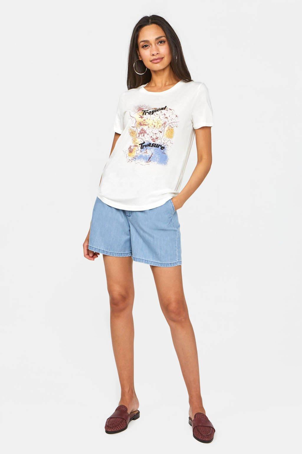 WE Fashion T-shirt met printopdruk snow white, Snow white