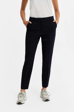 cropped slim fit pantalon marine