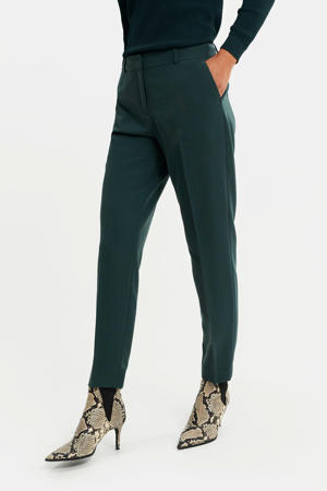 slim fit pantalon donkergoen