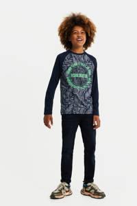 WE Fashion Blue Ridge tapered fit jeans dark denim, Dark denim