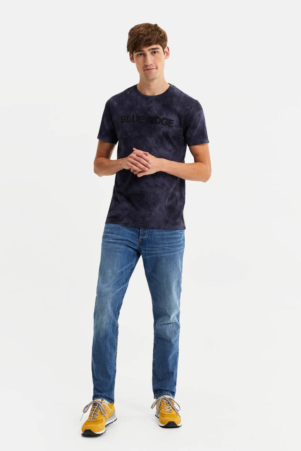 WE Fashion Blue Ridge tie-dye T-shirt donkerblauw, Donkerblauw