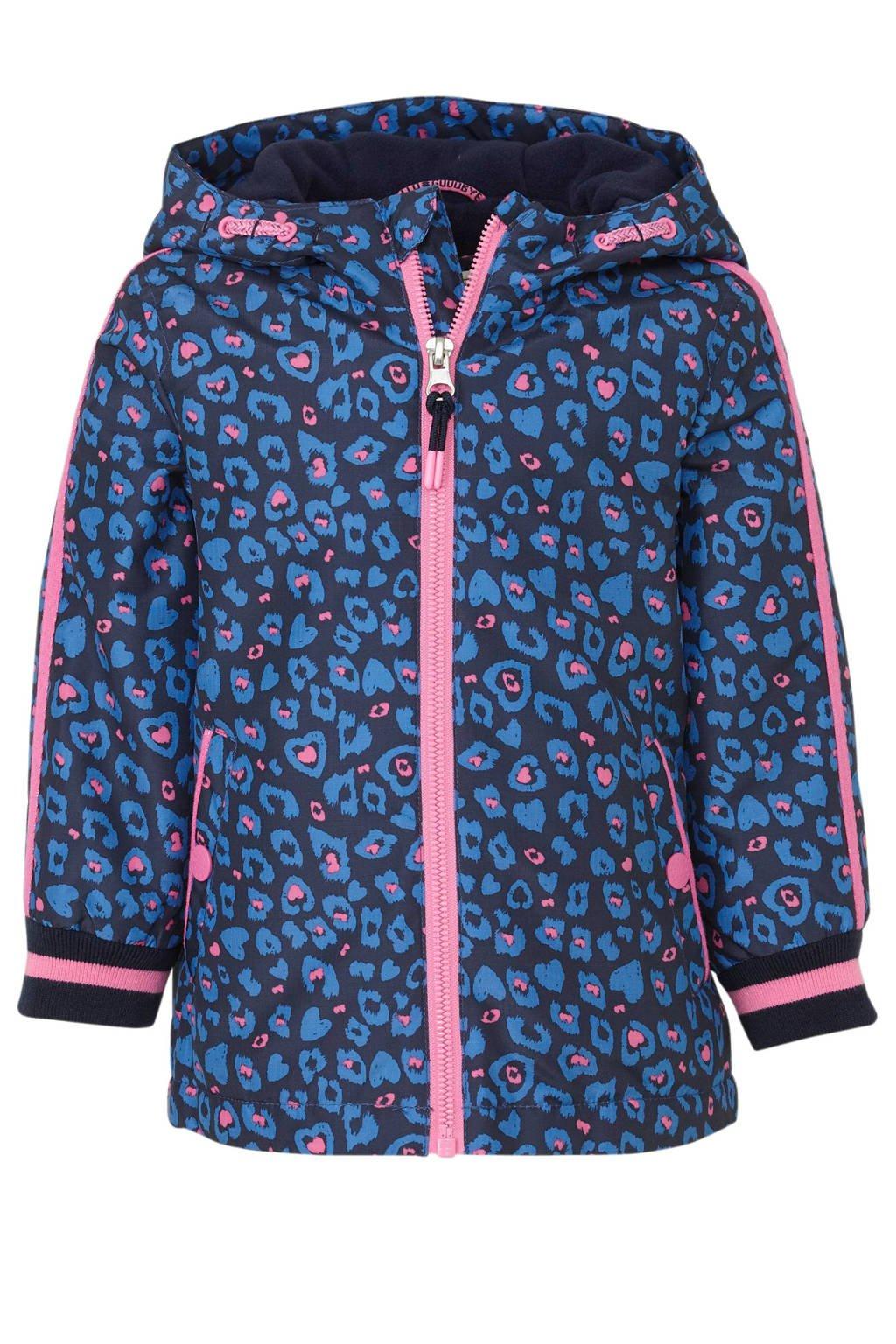C&A Palomino tussenjas met contrastbies donkerblauw/blauw/roze