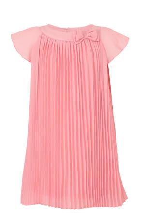 jurk met 3D applicatie roze