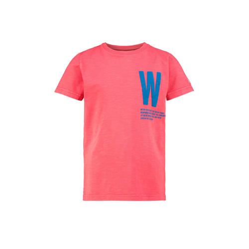 CKS KIDS T-shirt Warwick met printopdruk koraalroo