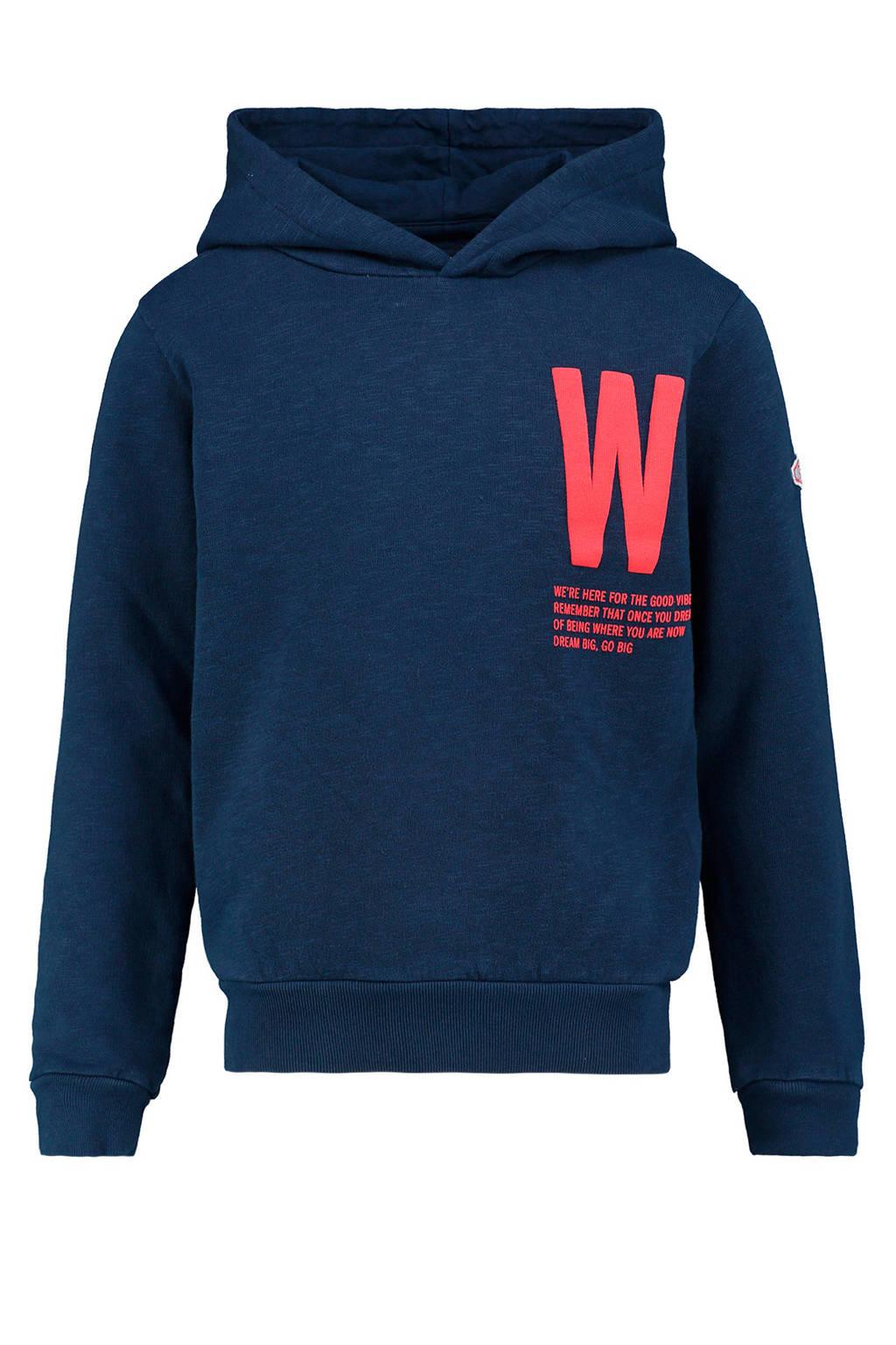 CKS KIDS hoodie Warhole met printopdruk donkerblauw, Donkerblauw