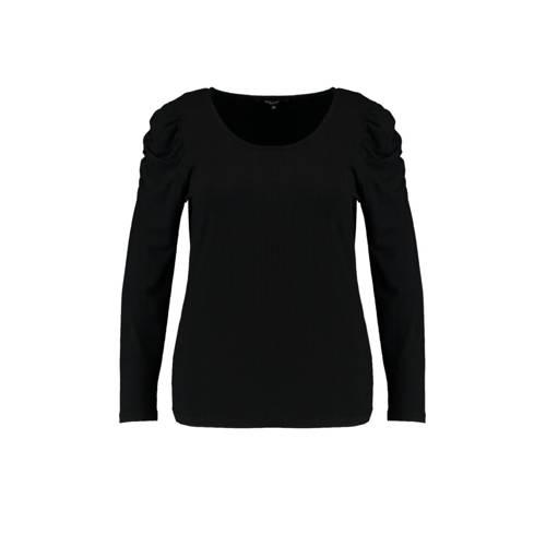MS Mode ribgebreide top zwart
