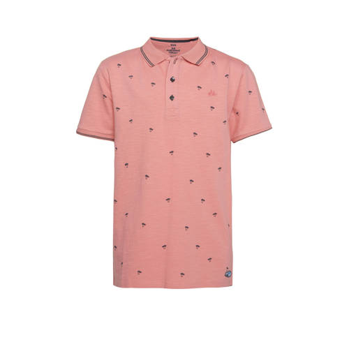 WE Fashion polo met all over print oudroze/antraci