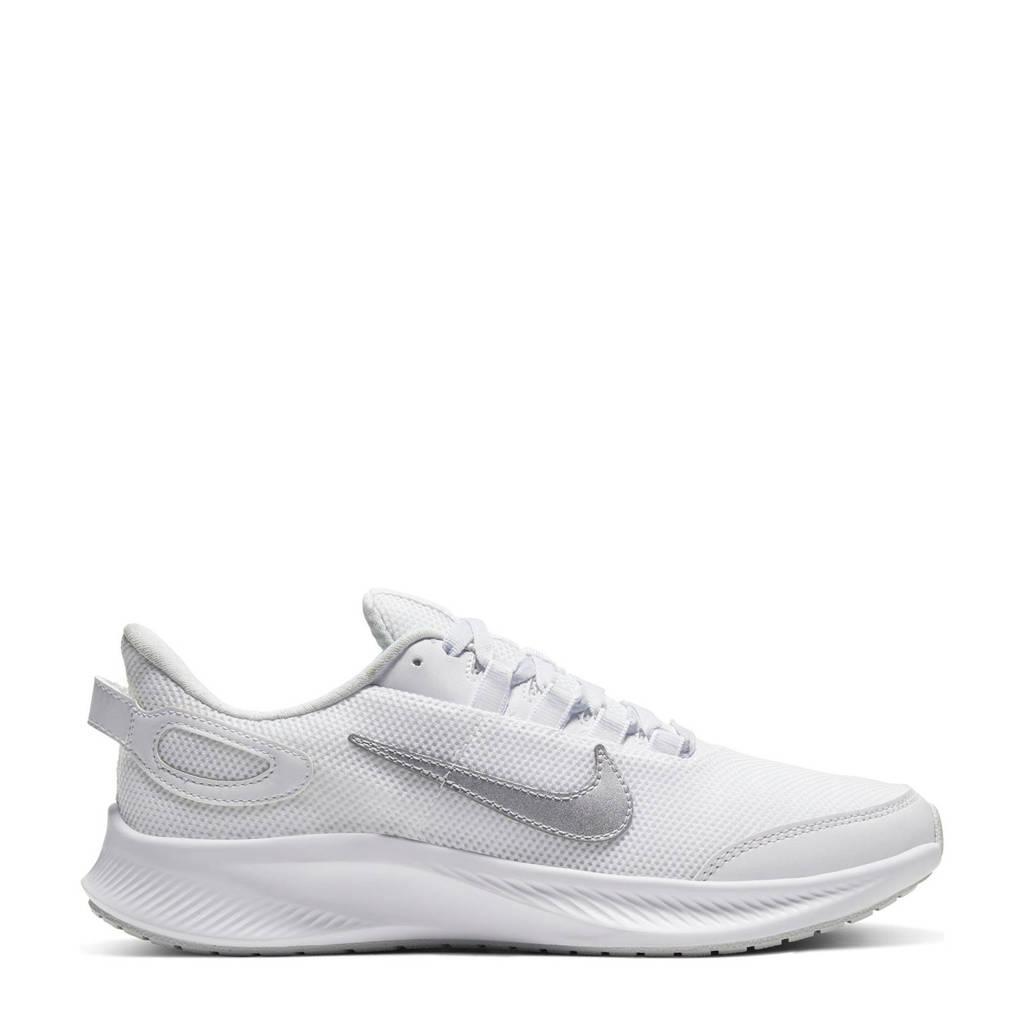 Nike Run All Day 2 hardloopschoenen wit /metallic zilver, Wit/zilver