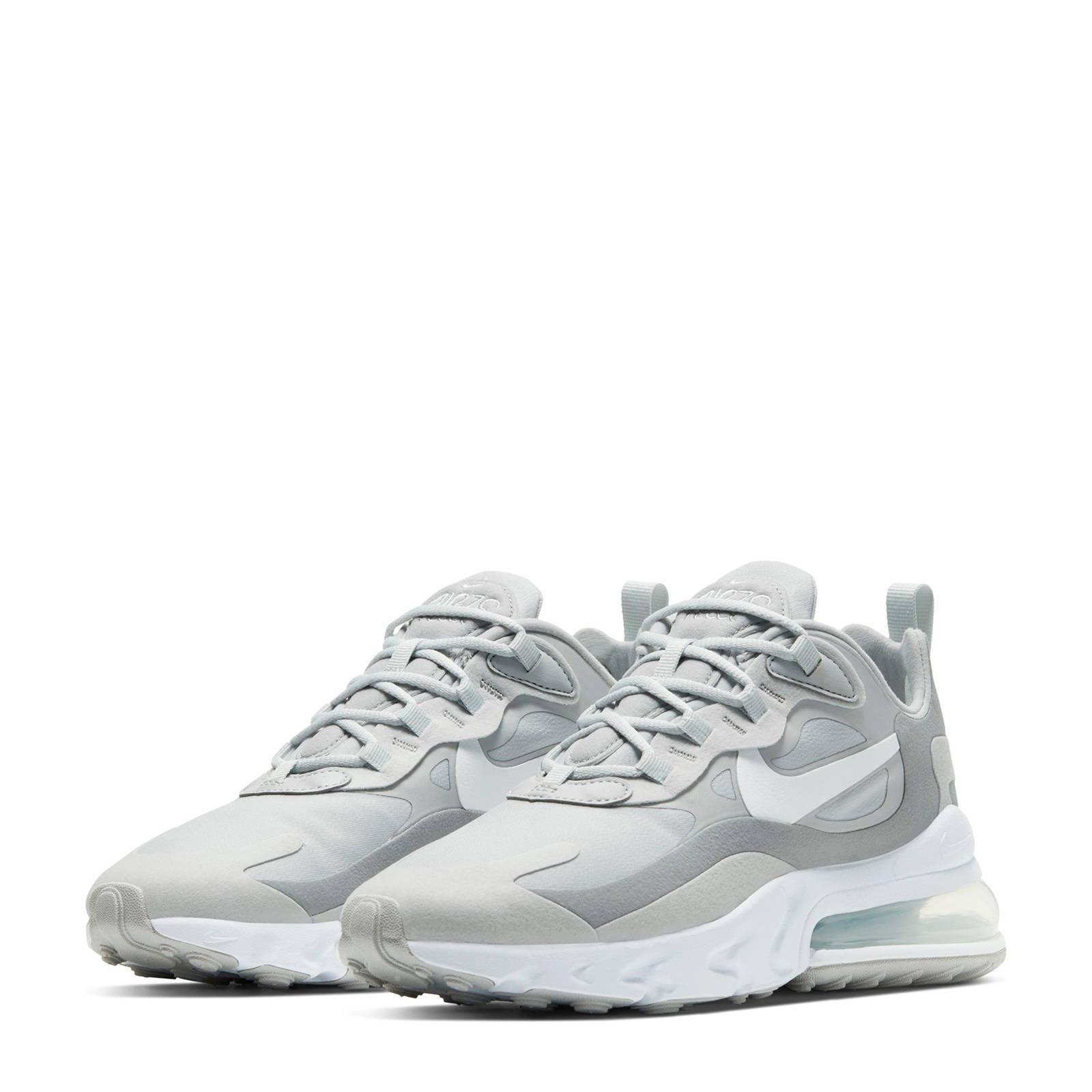 Nike Air Max 270 React sneakers grijs/wit | wehkamp