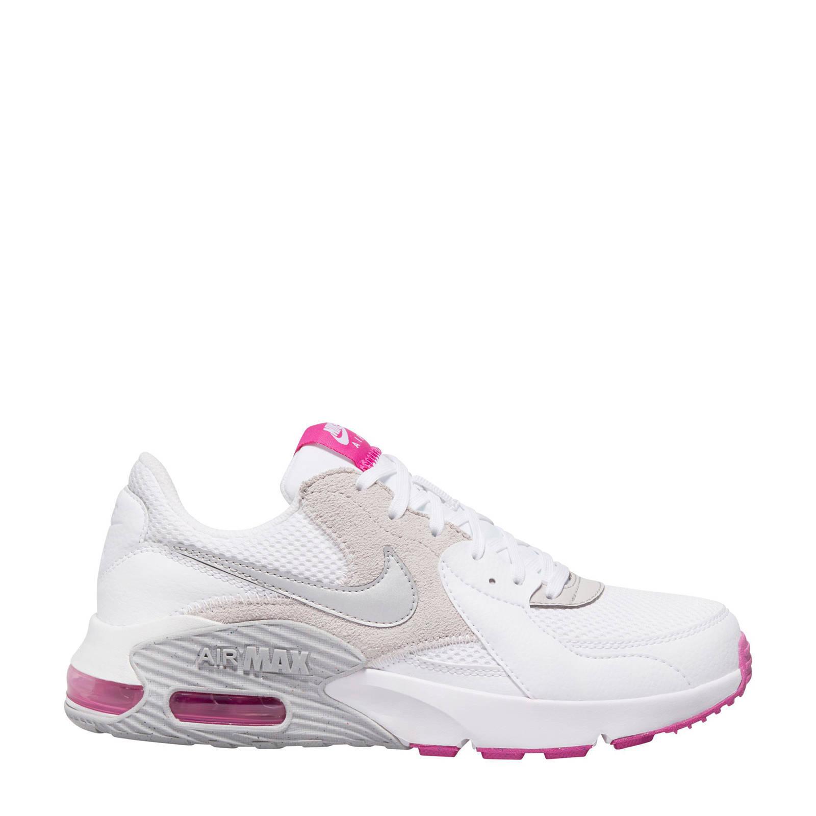 Nike Air Max Excee sneakers wit/roze/grijs   wehkamp